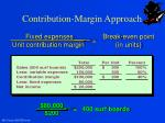 contribution margin approach2