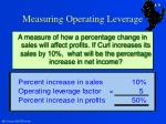 measuring operating leverage1