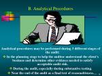 b analytical procedures