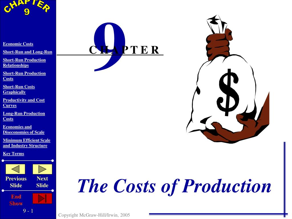 the costs of production l.