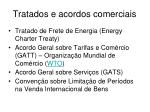 tratados e acordos comerciais