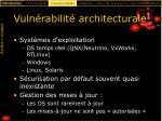 vuln rabilit architecturale23