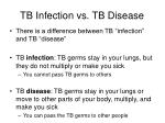 tb infection vs tb disease