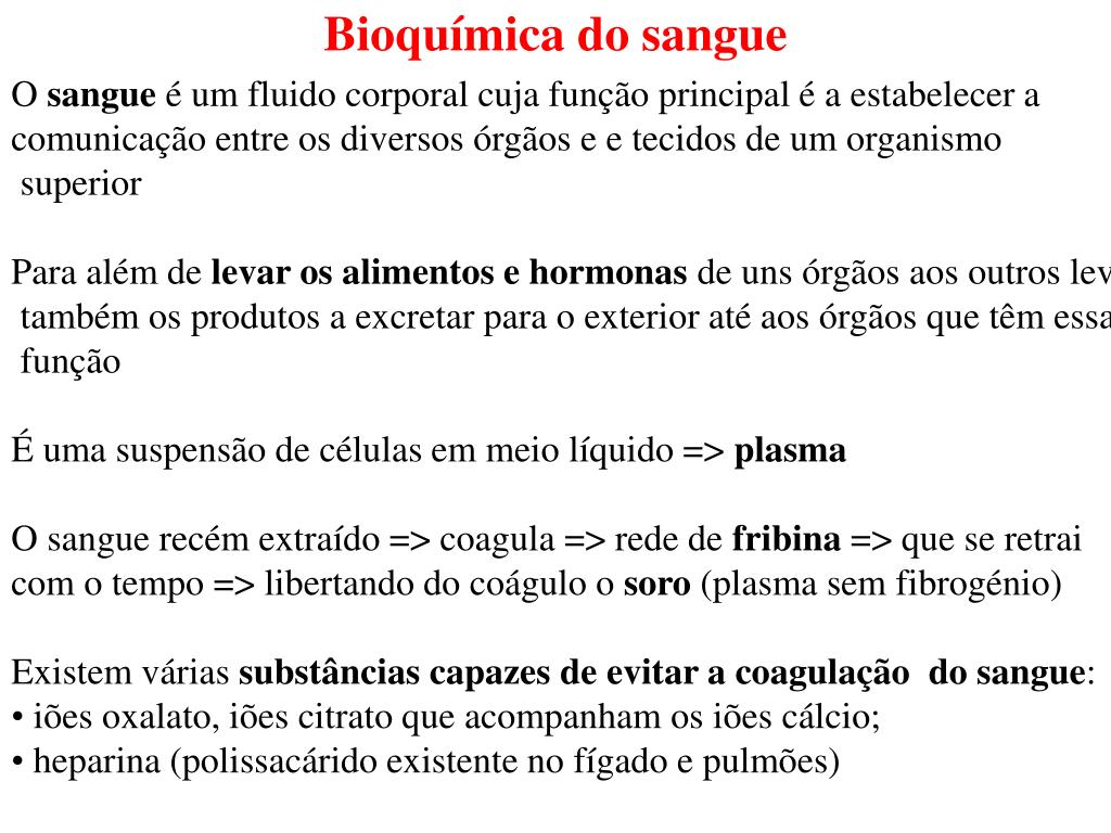 bioqu mica do sangue l.
