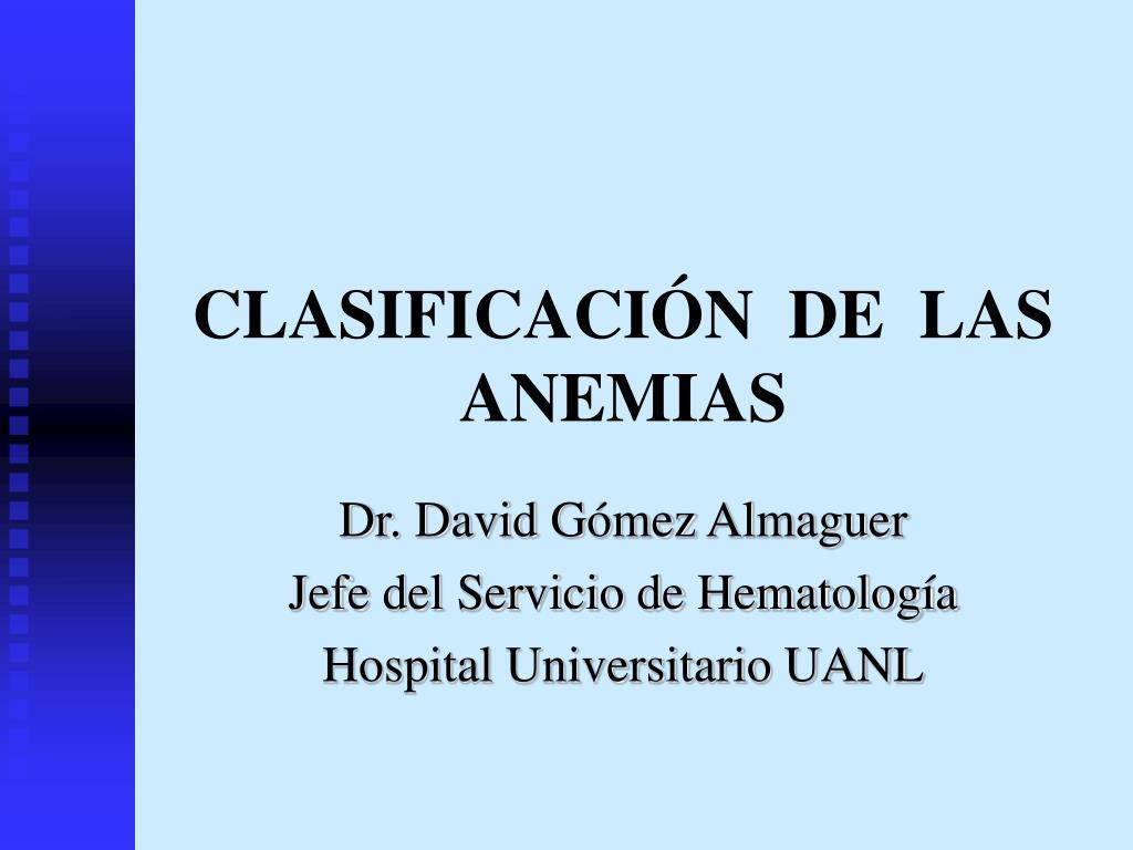 clasificaci n de las anemias l.