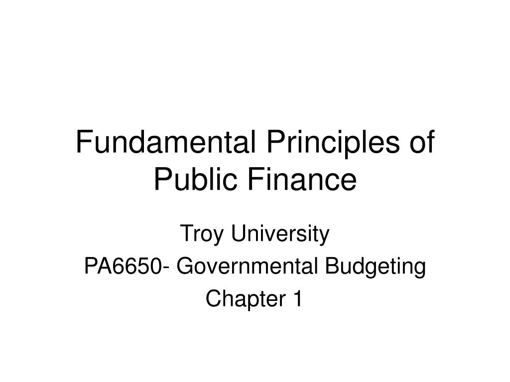 fundamental principles of public finance l.