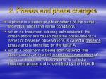 2 phases and phase changes
