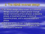 3 the abab reversal design