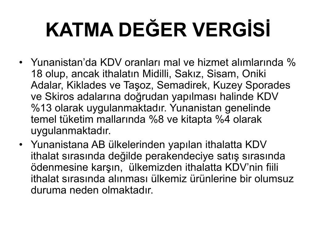 KATMA DEĞER VERGİSİ