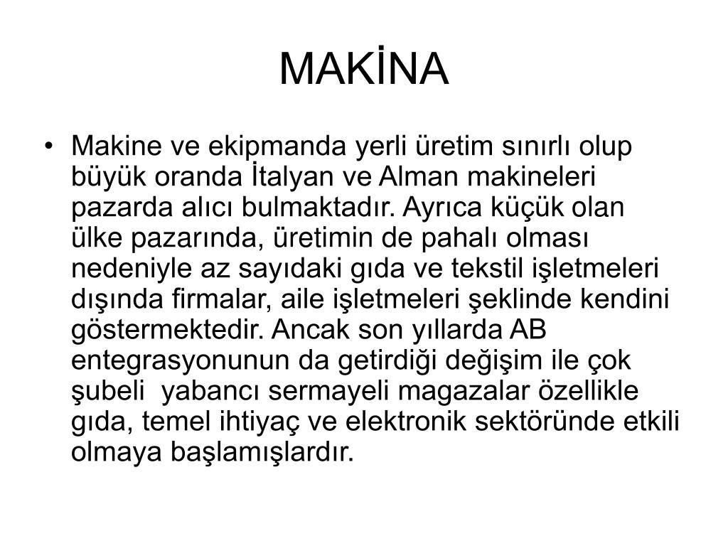 MAKİNA