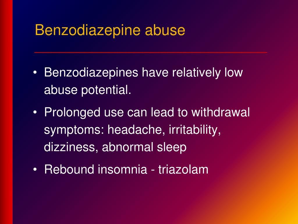 Benzodiazepine abuse