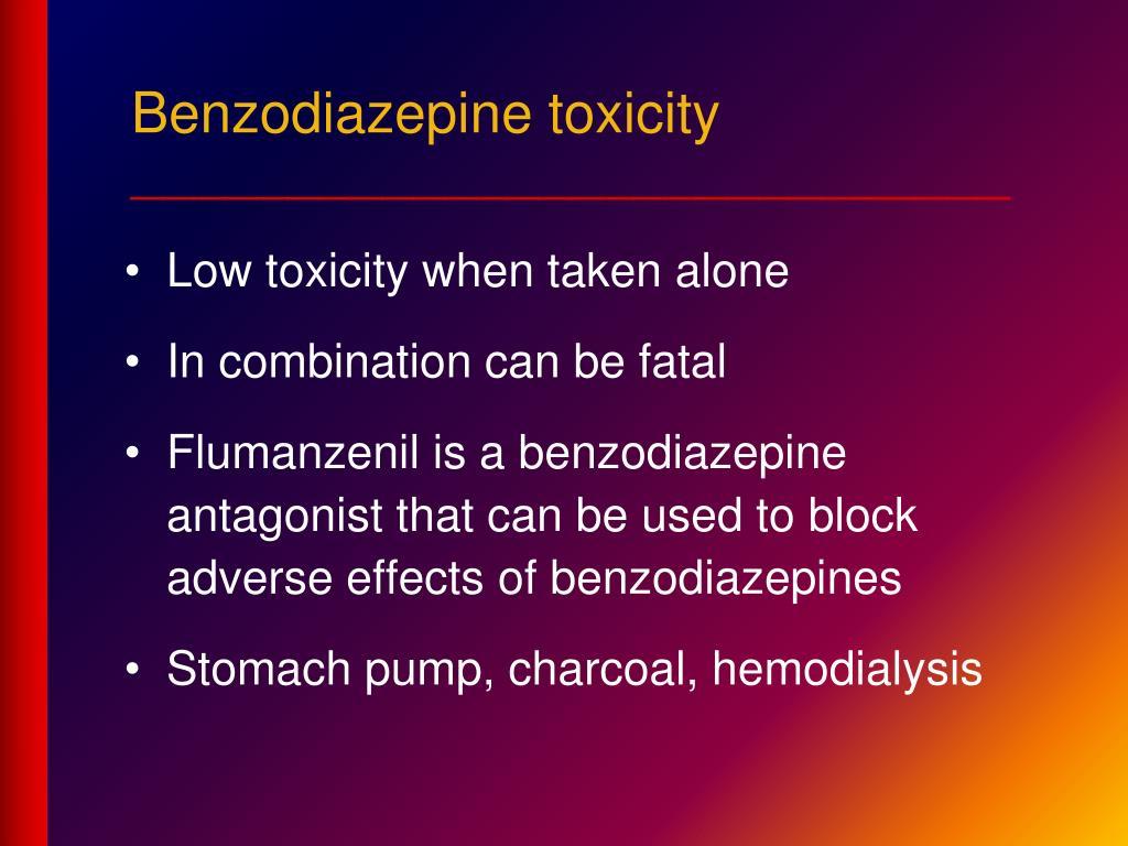 Benzodiazepine toxicity