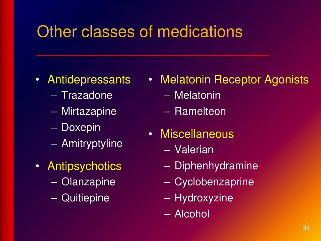 Other classes of medications