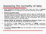 assessing the normality of data