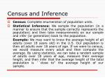 census and inference