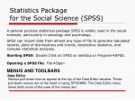 statistics package for the social science spss