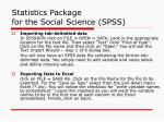 statistics package for the social science spss26