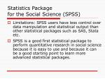 statistics package for the social science spss31