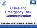 crisis and emergency risk communication