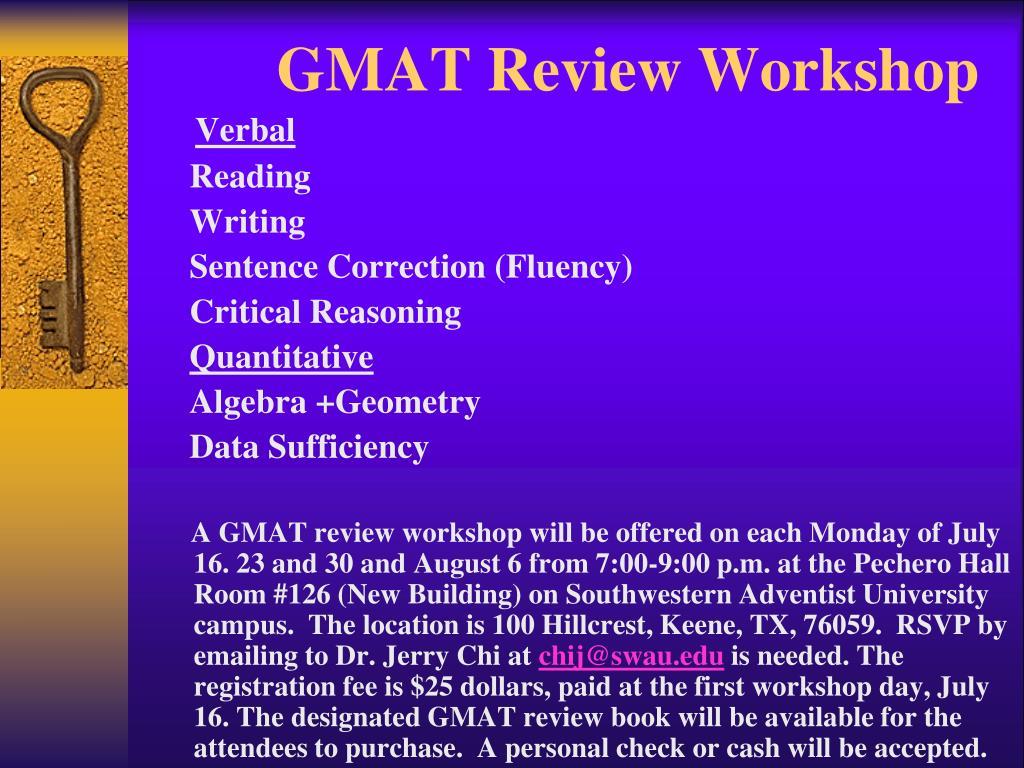 GMAT Review Workshop