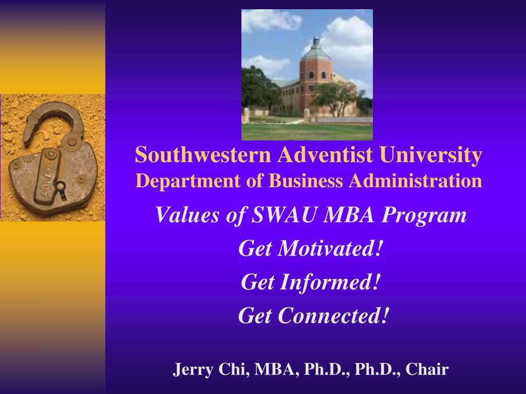 southwestern adventist university department of business administration l.