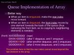 queue implementation of array28