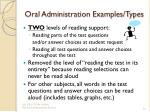 oral administration examples types