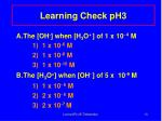 learning check ph3