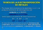 teor a de la electrodeposici n de metales24