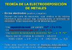 teor a de la electrodeposici n de metales28