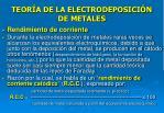 teor a de la electrodeposici n de metales30