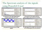 the spectrum analysis of the signals using powergui tool