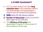 c 13 nmr quantitative