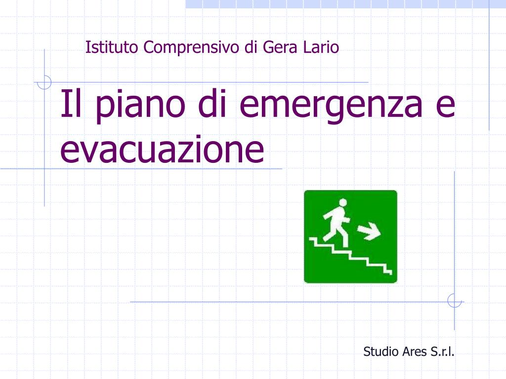 il piano di emergenza e evacuazione l.