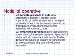 modalit operative38