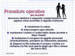 procedure operative