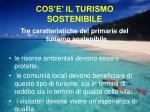 cos e il turismo sostenibile