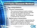 2 0 finite element method