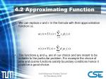 4 2 approximating function
