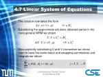 4 7 linear system of equations