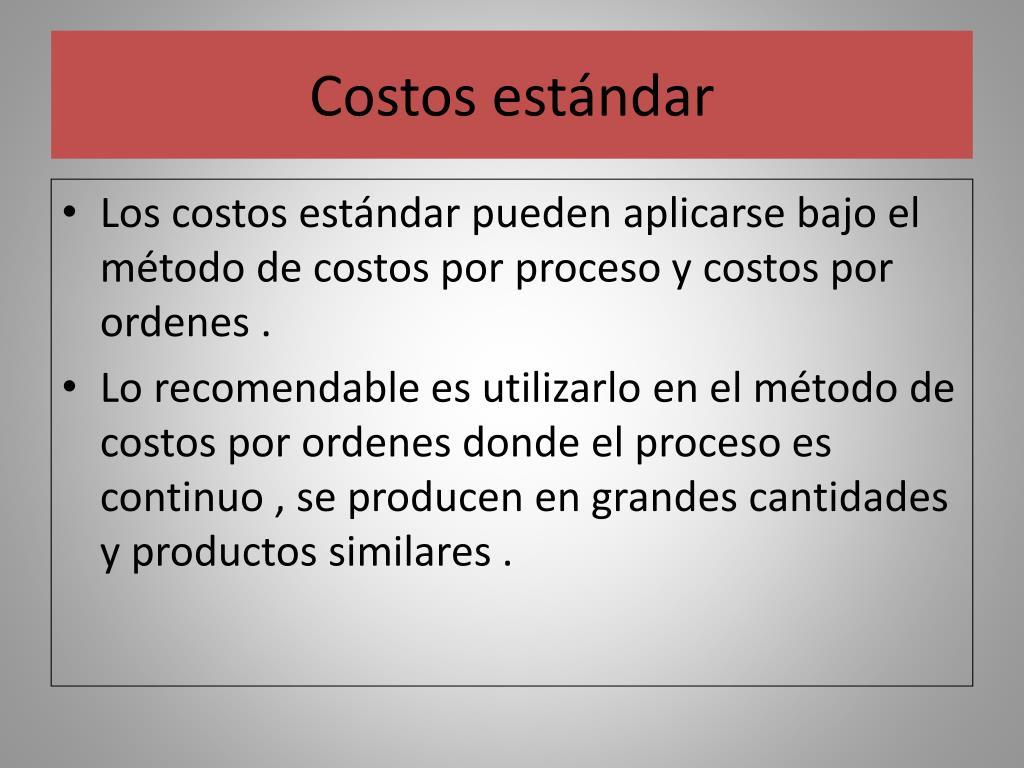 Costos estándar