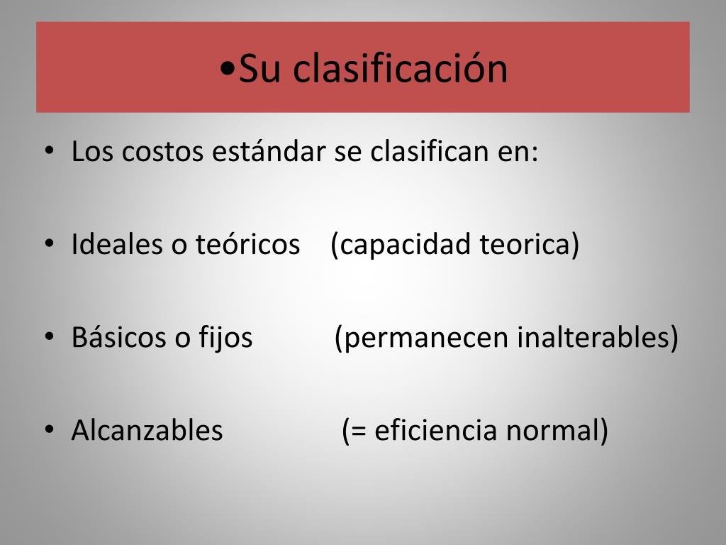 Su clasificación