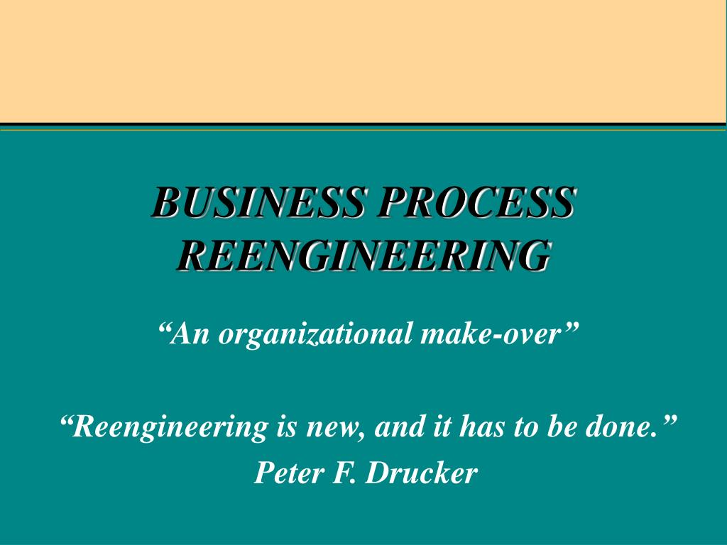 business process reengineering l.