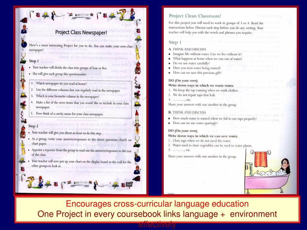 Encourages cross-curricular language education