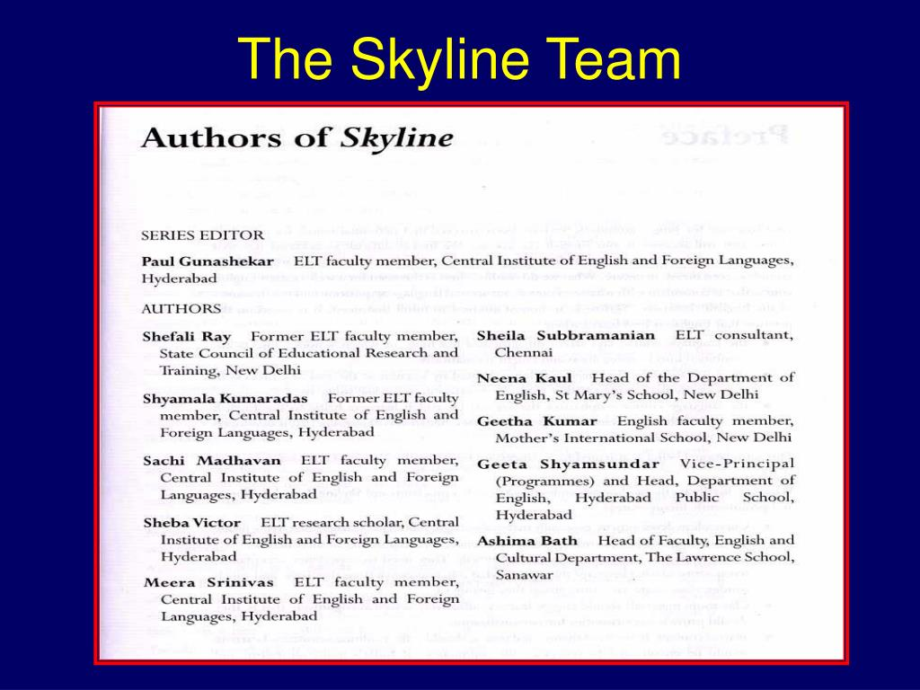 The Skyline Team