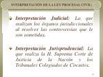 interpretaci n de la ley procesal civil19