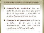 interpretaci n de la ley procesal civil23