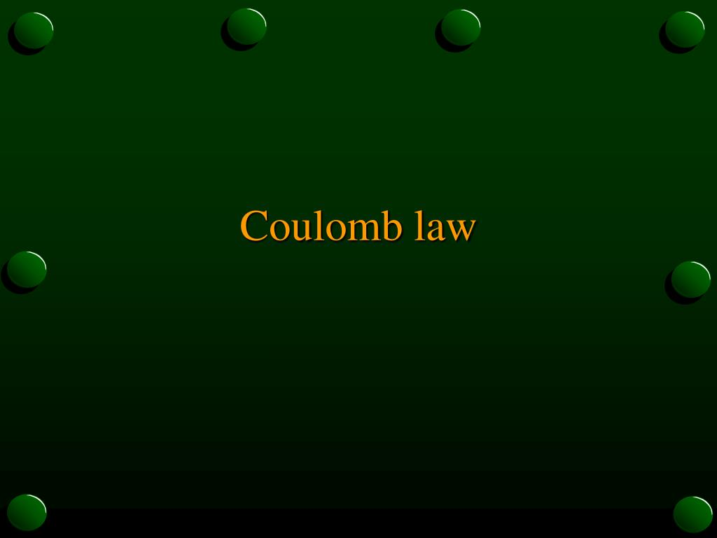 coulomb law l.