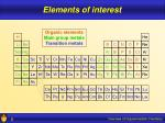 elements of interest