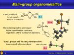 main group organometallics